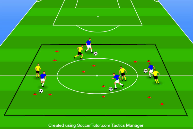 1-on-1 Gate Dribbling