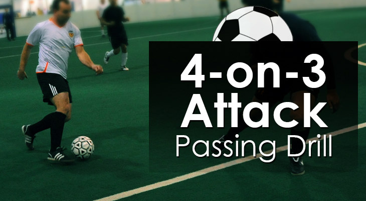 4-on-3 Attack - Passing Drill