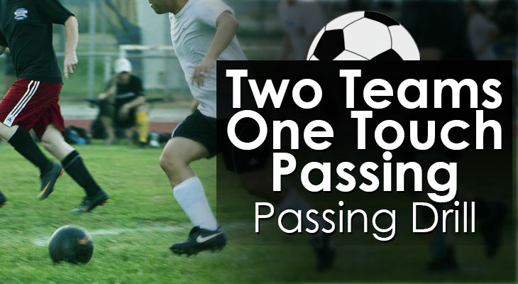 Two Teams One Touch Passing - Passing Drill